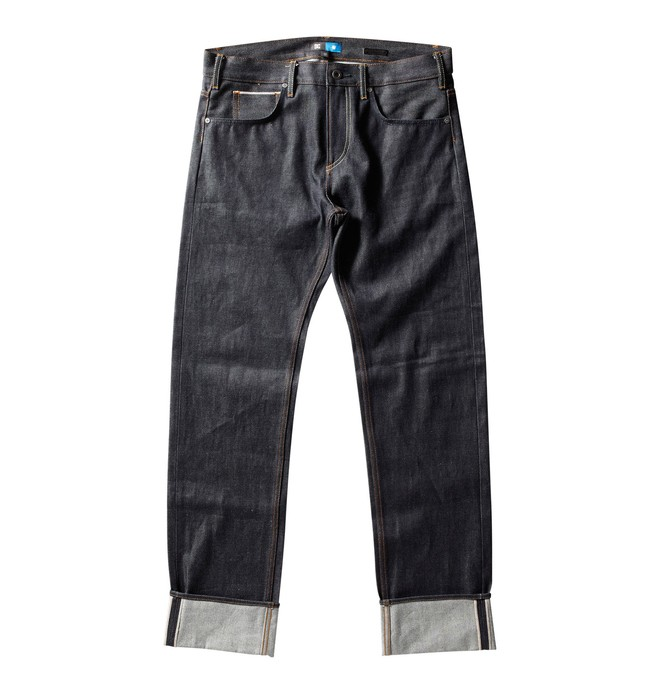 0 Men's NVRBRKN. Selvedge Straight Fit Jeans  53800115 DC Shoes