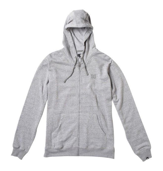 0 Men's Rebel Zip Hoodie Grey 53860138 DC Shoes
