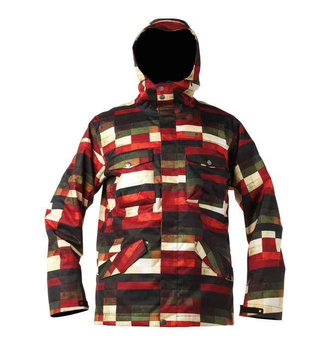 0 Men's Servo Snowboard Jacket Red 54645127 DC Shoes