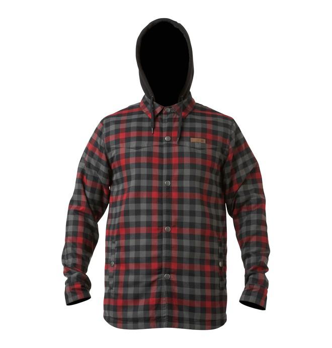 0 Men's Fernwood Flannel Shirt Hoodie  54670030 DC Shoes