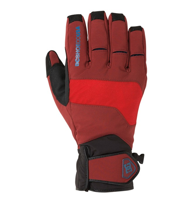 0 Men's Mizu Snowboard Gloves Red 54671063 DC Shoes