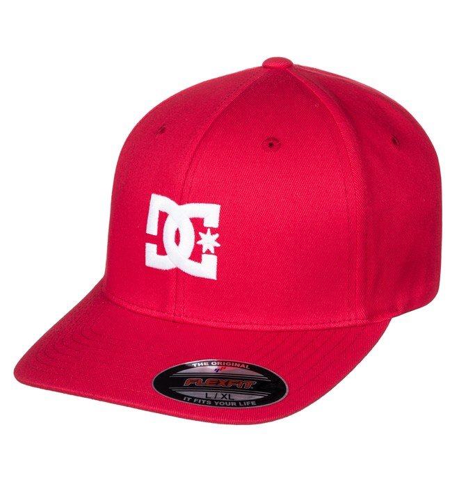 0 Men's Hat Star 2 Flexfit Hat Red 55300096 DC Shoes