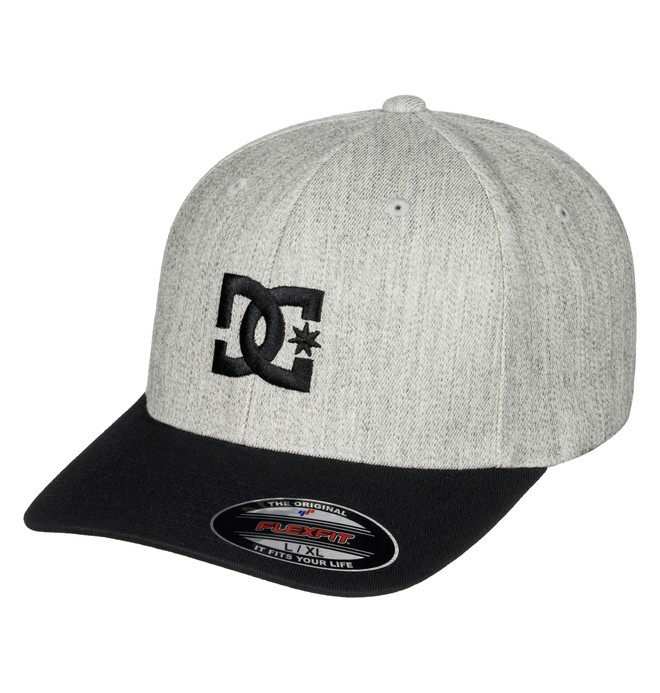 0 Men's Hat Star 2 Flexfit Hat Grey 55300096 DC Shoes