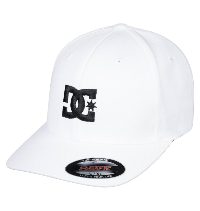 0 Men's Cap Star 2 Flexfit Hat White 55300096 DC Shoes