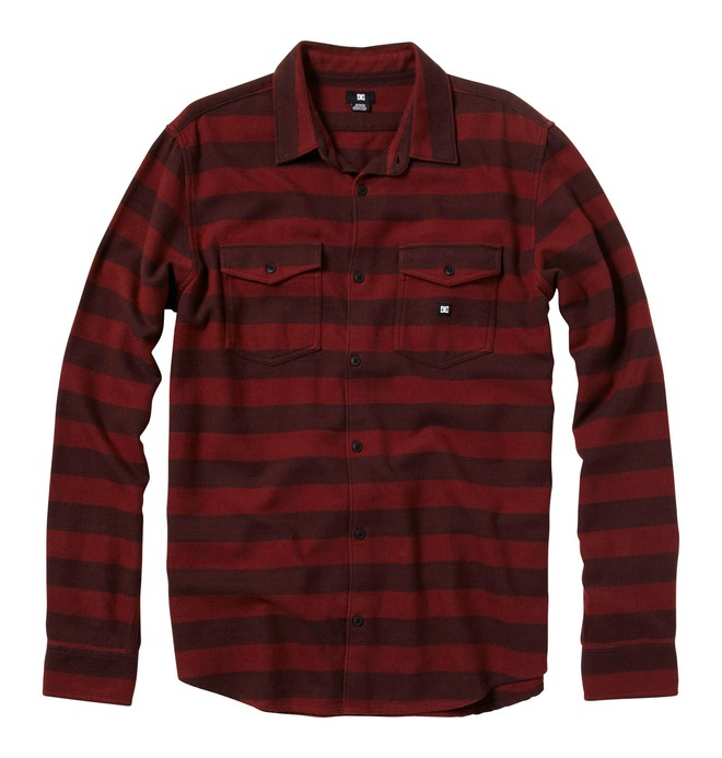 0 Men's Howler Long Sleeve Shirt Red 55820072 DC Shoes