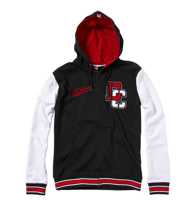 0 Men's Rob Dyrdek Letterman Zip Hoodie  55860107 DC Shoes