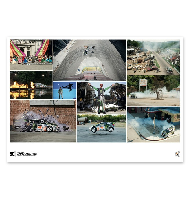 0 Men's Ken Block Gymkhana 4 Collage Poster  56391083 DC Shoes
