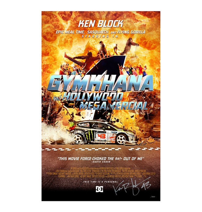 0 Men's Ken Block Limited Edition Gymkhana 4 Signed Poster  56391084 DC Shoes