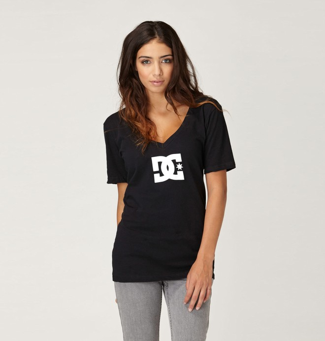 0 Women's T-Star E V-Neck Tee  61200168 DC Shoes