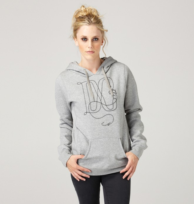 0 Women's Twine Pullover Hoodie  61240036 DC Shoes