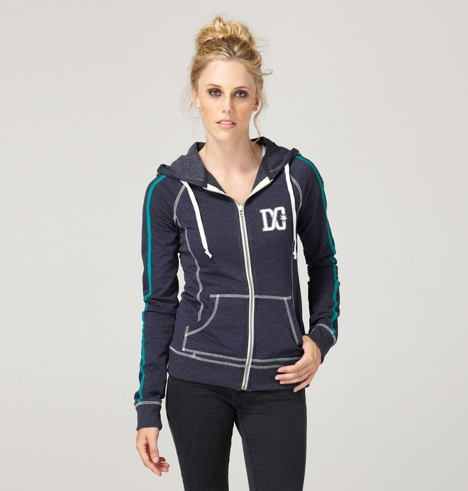 0 Women's Heritage Zip Sweatshirt  61460073 DC Shoes