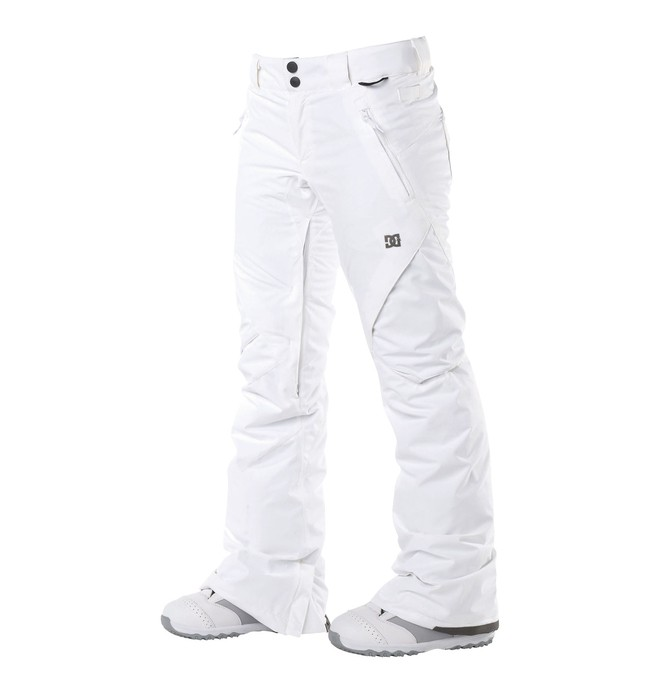 0 Women's Ace Slim Snowboard Pants White 64601201 DC Shoes