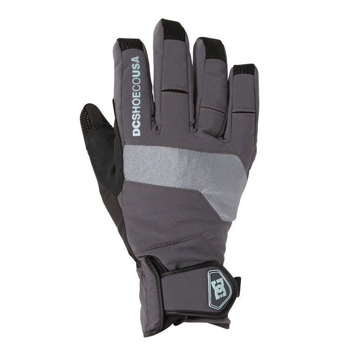 0 Women's Mizu Snowboard Gloves Grey 64670034 DC Shoes