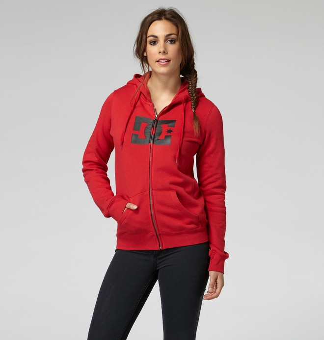 0 Star E ZH Hoodie Red 65260060 DC Shoes