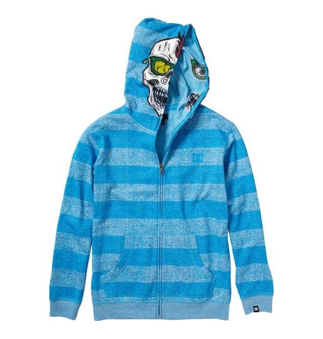 0 Boy's Rebeled Zip Up Face Hoodie  71860028 DC Shoes