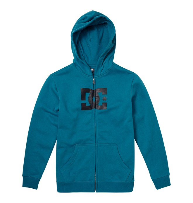 0 Boy's 8-16 Star Zip Hoodie Blue 73260024 DC Shoes
