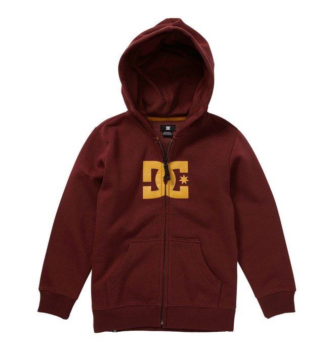 0 Boy's 8-16 Star Zip Hoodie Red 73260024 DC Shoes
