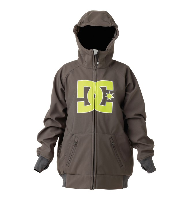 0 Boys Spectrum Softshell Jacket Grey 74641034 DC Shoes