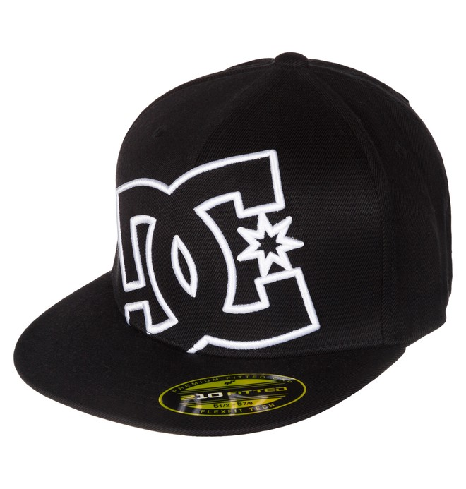 0 Boy's 8-16 Ya Heard 2 Flexfit Hat Black 75300013 DC Shoes