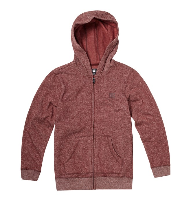 0 Boy's Rebel ZH Hoodie Red ADBFT00092 DC Shoes