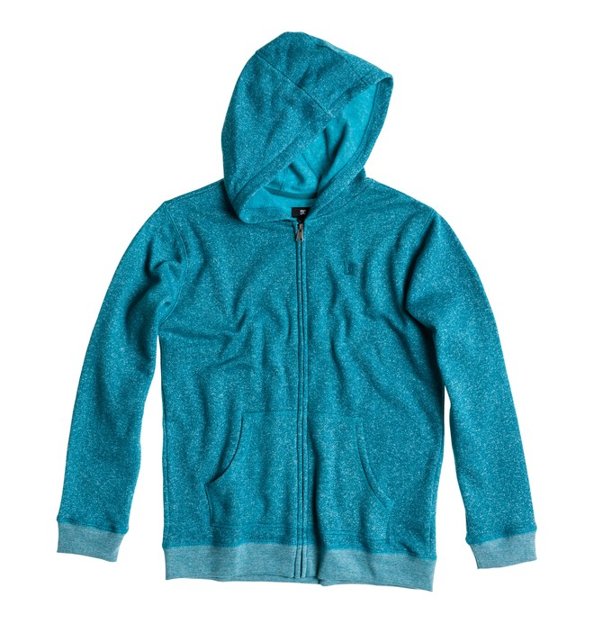 0 Boy's Rebel ZH Hoodie Blue ADBFT00092 DC Shoes