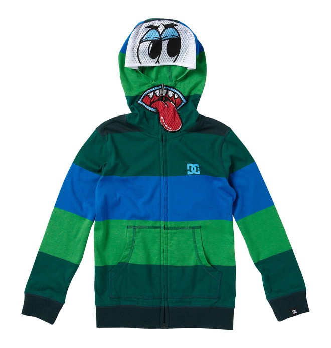 0 Boy's Boog Eyes Hoodie Green ADBKT00061 DC Shoes