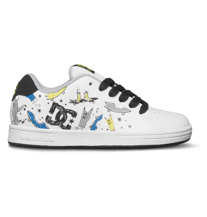 0 Kids 8-16 Phos Shoes White ADBS100062 DC Shoes