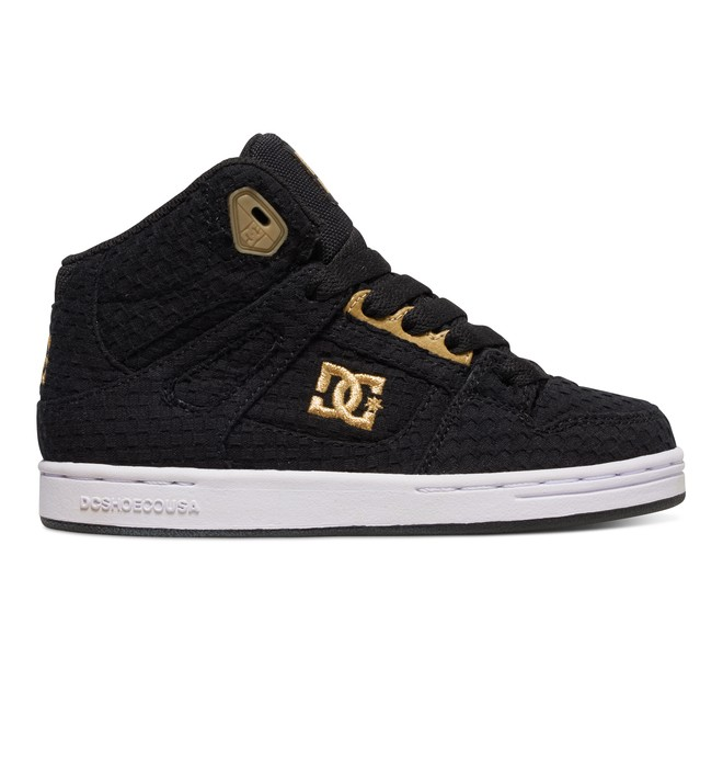 0 Kid's 4-7 Rebound TX SE High-Top Shoes Black ADBS100068 DC Shoes