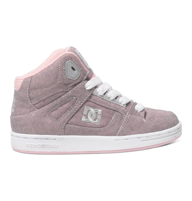 0 Kid's 4-7 Rebound TX SE High-Top Shoes Pink ADBS100068 DC Shoes