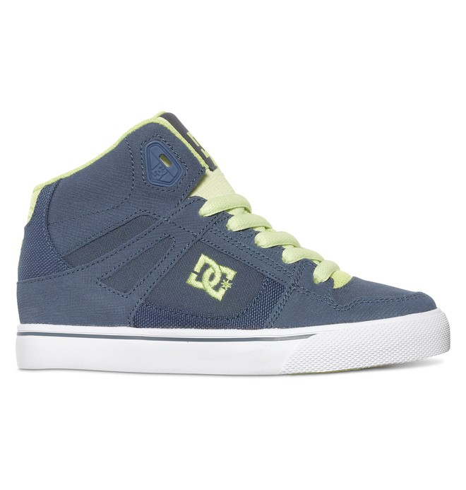 0 Kid's 4-7 Spartan SE High-Top Shoes Blue ADBS300012 DC Shoes