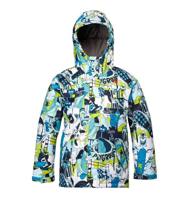 0 Boy's Servo Snowboard Jacket Blue ADBTJ00000 DC Shoes