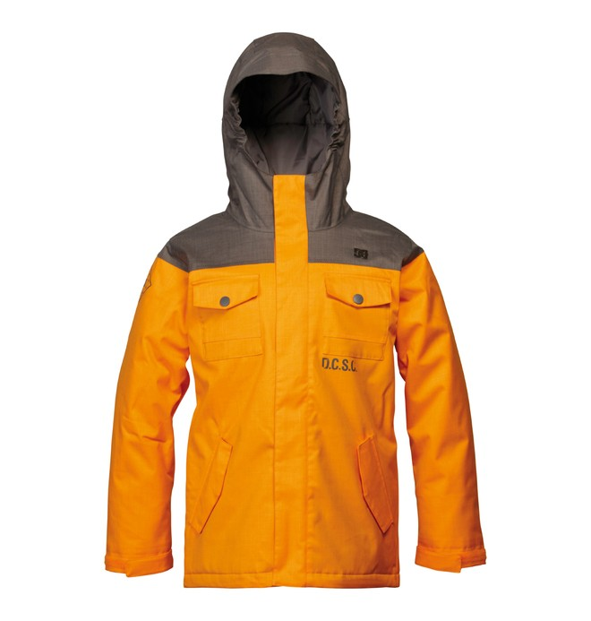 0 Boy's Servo Snowboard Jacket Orange ADBTJ00000 DC Shoes