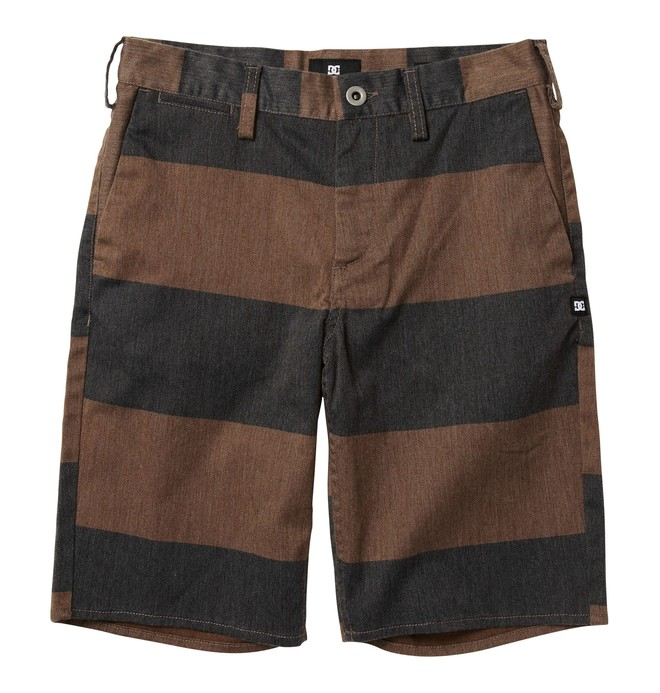 0 Boy's DC Worker Slim Fit Short Brown ADBWS00002 DC Shoes