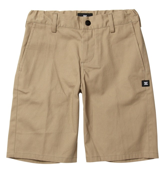 0 Kid's DC Worker Shorts Beige ADBWS00003 DC Shoes