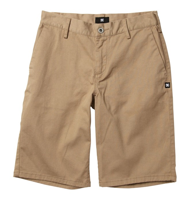 0 Boy's DC Worker Shorts Beige ADBWS00004 DC Shoes