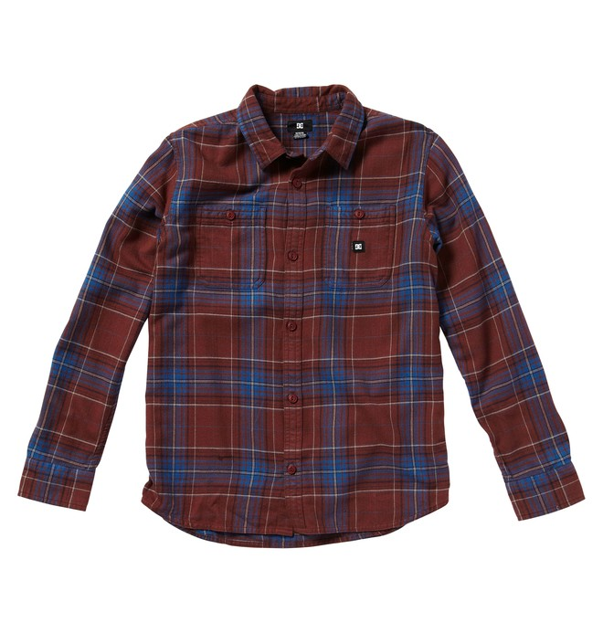 0 Boy's Kingsmen Shirt Red ADBWT00019 DC Shoes