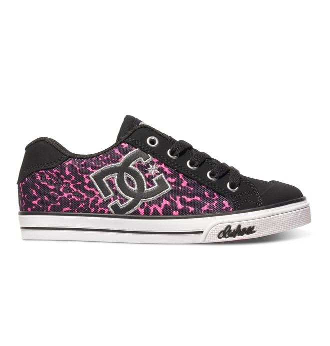 0 Girl's Chelsea Graffik Shoes Black ADGS300001 DC Shoes