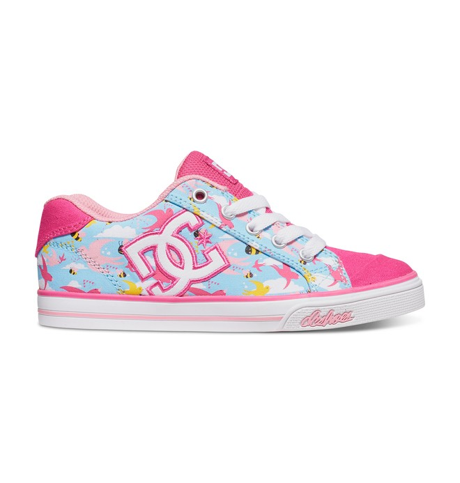 0 Girl's Chelsea Graffik Shoes Pink ADGS300001 DC Shoes