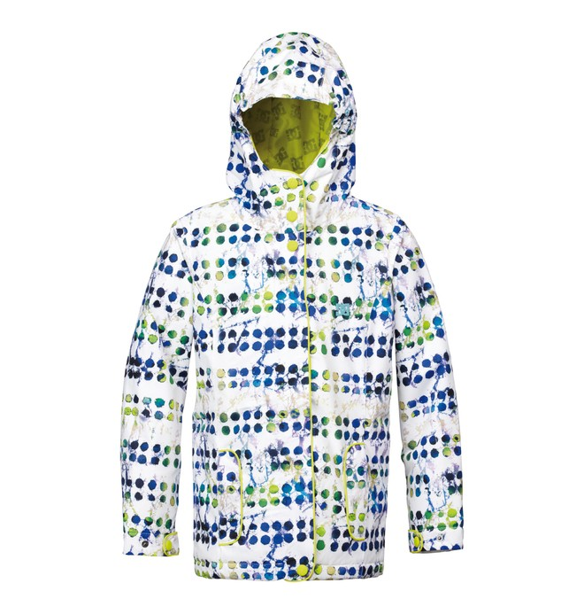 0 Girl's Data Snowboard Jacket White ADGTJ00001 DC Shoes