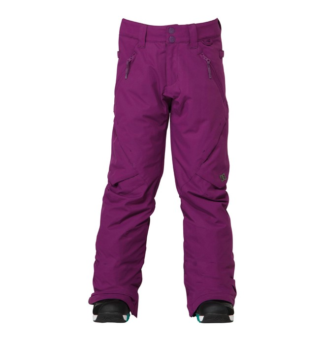 0 Girl's Ace Snowboard Pant Purple ADGTP00001 DC Shoes