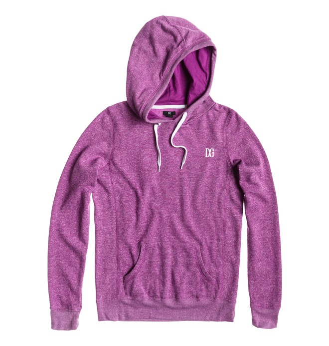 0 Women's Rebel Star Pullover Hoodie Purple ADJFT00044 DC Shoes