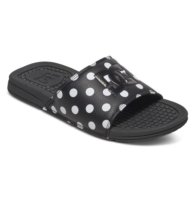 0 Bolsa SE  - Sandalias Slider de Cuero Negro ADJL100008 DC Shoes