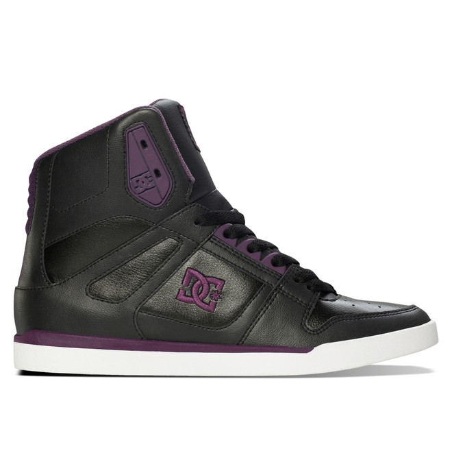 0 Women's Rebound Slim High Top Shoe Black ADJS100051 DC Shoes