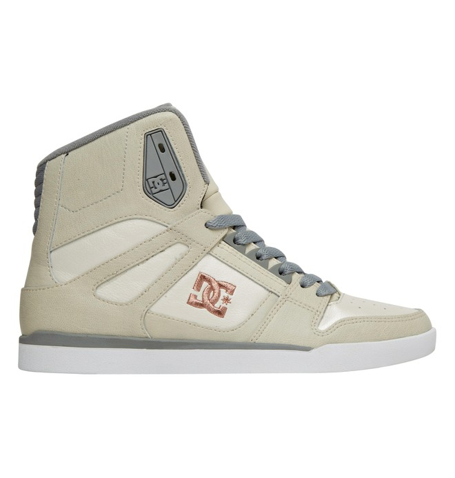 0 Women's Rebound Slim High Top Shoe White ADJS100051 DC Shoes