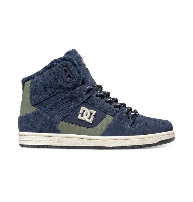 0 Women's Rebound High WNT Winterized High Top Shoes Blue ADJS100054 DC Shoes