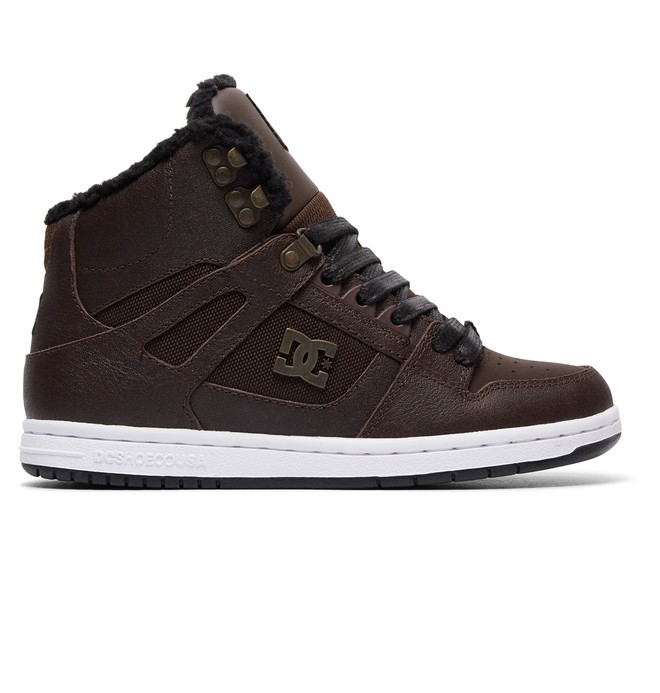 0 Women's Rebound High WNT Winterized High Top Shoes Brown ADJS100054 DC Shoes