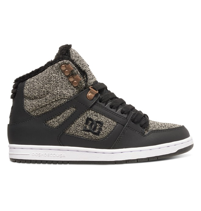 0 Women's Rebound WNT High-Top Shoes Black ADJS100054 DC Shoes