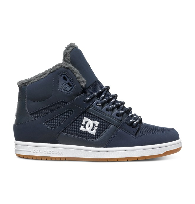 0 Women's Rebound WNT High-Top Shoes Blue ADJS100054 DC Shoes