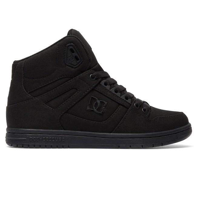 0 Women's Rebound High TX High Top Shoes Black ADJS100067 DC Shoes