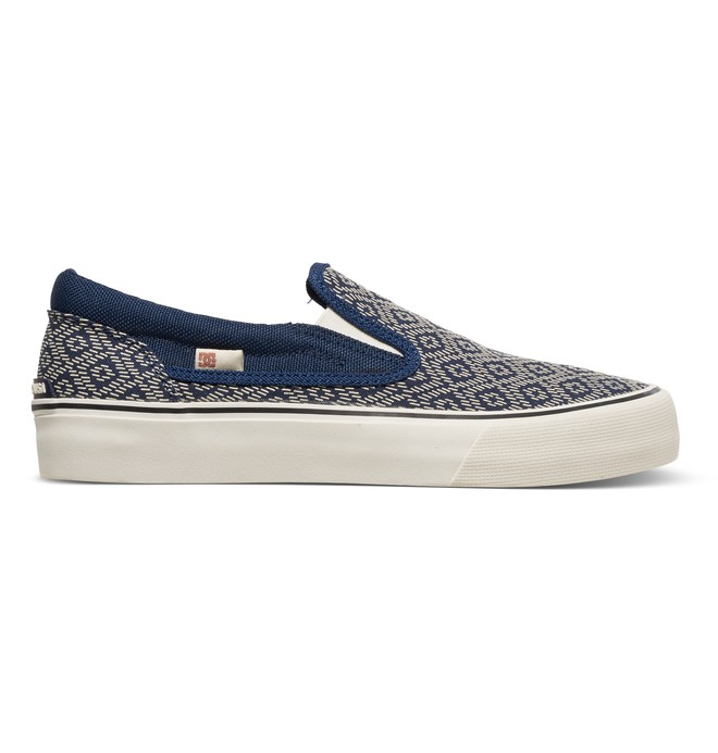 0 Trase Printed - Slip-On Shoes Blue ADJS300099 DC Shoes